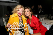 Sandra Milo and Elisabetta Canalis attend Moschino Menswear Collection Autumn/Winter 2019/20 at Cinecitta on January 08, 2019 in Rome, Italy.