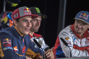 Marc Marquez of Spain and Repsol Honda Team  speaks during the press conference during the MotoGP of Australia - Previews during previews ahead of the 2018 MotoGP of Australia at Phillip Island Grand Prix Circuit on October 25, 2018 in Phillip Island, Australia.