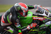 Tom Sykes of Great Britain in action on his way to third place during race one of the Motul FIM Superbike World Championship at Donington Park on May 26, 2018 in Castle Donington, England.