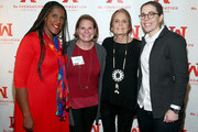 Ms. Foundation For Women President and CEO Teresa C. Younger, Jenna Bussman-Wise, Ms. Foundation For Women Founding Mother Gloria Steinem, and Jane Bussman-Wise attend Ms. Foundation For Women's 23rd Comedy Night at Carolines On Broadway on October 30, 2018 in New York City.