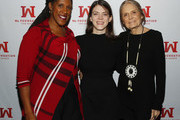 Ms. Foundation For Women President and CEO Teresa C. Younger, Comedian Kelly Bachman and Ms. Foundation For Women Founding Mother Gloria Steinem attend Ms. Foundation For Women's 24th Comedy Night at Carolines on Broadway on January 13, 2020 in New York City.