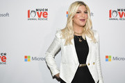 Tori Spelling attends the Much Love Animal Rescue 3rd Annual Spoken Woof Benefit at Microsoft Lounge on October 17, 2019 in Culver City, California.