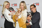 (L-R) Tori Spelling, Jennie Garth, and Gabrielle Carteris attend the Much Love Animal Rescue 3rd Annual Spoken Woof Benefit at Microsoft Lounge on October 17, 2019 in Culver City, California.