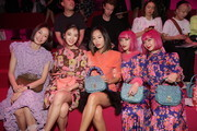 Model Park Sera, Irene Kim, Aimee Song, Aya Suzuki and Ami Suzuki attend the Mulberry A/W 18 event at K museum on September 6, 2018 in Seoul, South Korea.