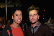 (L-R) Jared Eng and Jared Followill of Kings of Leon attends the Mulberry 40th Anniversary celebration on the Rooftop at Skylight West on September 12, 2011 in New York City.