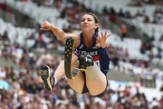 Marie-Amelie Le Fur of France competes in the Women's Long Jump T44/47/64 during Day One of the Muller Anniversary Games at London Stadium on July 21, 2018 in London, England.