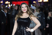 Kelly Brook attends the 'Murder On The Orient Express' World Premiere held at Royal Albert Hall on November 2, 2017 in London, England.