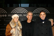 (L-R) Martina Colombari, Massimiliano Finazzer Flory, Billy Costacurta attend the Museo Del Novecento Opening on December 6, 2010 in Milan, Italy.