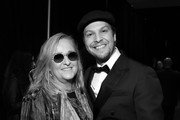Image has been converted to black and white.) (L-R) Melissa Etheridge and Gavin DeGraw attend MusiCares Person of the Year honoring Aerosmith at West Hall at Los Angeles Convention Center on January 24, 2020 in Los Angeles, California.