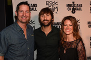 Musicians on Call President Pete Griffin, Lady Antebellum's Dave Haywood, and Kelli Cashiola attend the Musicians On Call Rock The Room Tour Kickoff Party at City Winery on October 21, 2015 in Nashville, Tennessee with the help of Reba, Martina McBride, Kelsea Ballerini and more to support its bedside tours for patients in hospitals. Learn more at www.musiciansoncall.org.
