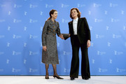 """(L-R) Margaret Qualley and Sigourney Weaver at the """"My Salinger Year"""" photo call during the 70th Berlinale International Film Festival Berlin at Grand Hyatt Hotel on February 20, 2020 in Berlin, Germany."""