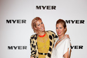 Heidi Middleton and Sarah-Jane Clarke arrive at the Myer Spring/Summer 2011 fashion launch at the Carriage Works on August 11, 2011 in Sydney, Australia.
