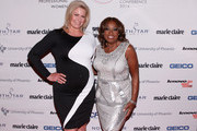 Model Emme (L) and Star Jones attend NAPW 2014 Conference at Marriott Marquis Hotel on April 24, 2014 in New York City.
