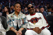 Snoop Dogg and wife Shante attend the NBA All-Star Game 2018 at Staples Center on February 18, 2018 in Los Angeles, California.