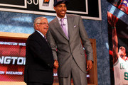 Otto Porter (R) of Georgetown poses for a photo with NBA Commissioner David Stern after Porter was drafted #3 overall in the first round by the Washington Wizards during the 2013 NBA Draft at Barclays Center on June 27, 2013 in in the Brooklyn Borough of New York City.  NOTE TO USER: User expressly acknowledges and agrees that, by downloading and/or using this Photograph, user is consenting to the terms and conditions of the Getty Images License Agreement.