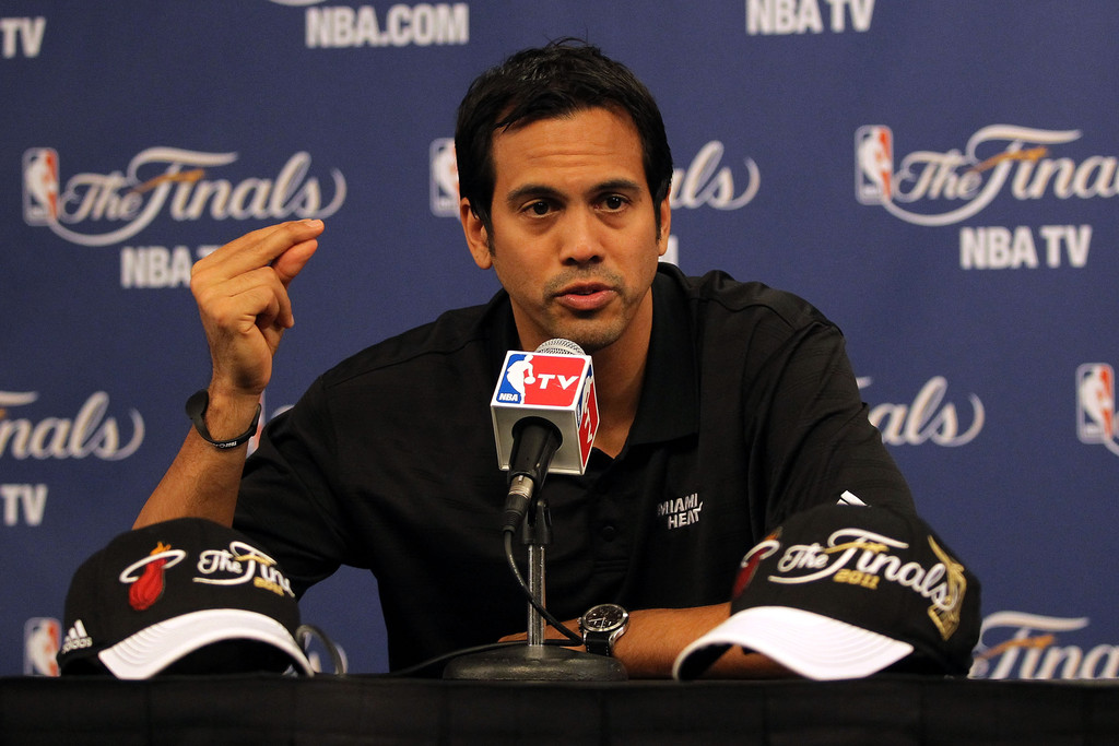 Erik Spoelstra In Nba Finals Practice And Media