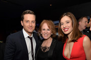 "(L-R) Actor Jesse Lee Soffer, Executive Producer Danielle Gelber and actress Marina Squerciati attend a premiere party for NBC's 'Chicago Fire', 'Chicago P.D.' and 'Chicago Med' at STK Chicago on November 9, 2015 in Chicago, Illinois. NBC has renewed popular dramas ""Chicago Fire"" and ""Chicago P.D."" for the 2016-17 season. ""Chicago Fire"" will be entering its fifth season while ""Chicago P.D."" will begin its fourth season."