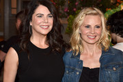 """Actresses Lauren Graham (L) and Monica Potter pose at NBC's """"Parenthood"""" 100th episode cake-cutting ceremony at Universal Studios on November 7, 2014 in Universal City, California."""