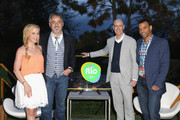 (L-R) Olympic gold medalist Tara Lipinski, Golf Channel analyst David Feherty, NBC Olympics CMO John Miller and NBC SportsÕ Rob Simmelkjaer attend the exclusive Olympic Panel Discussion and Happy Hour at the NBC Sports Lawn at SXSW on March 11, 2016 in Austin, Texas.