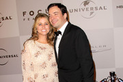 Actor Jimmy Fallon (R) and wife producer Nancy Juvonen arrive at NBC Universal's 68th Annual Golden Globes After Party held at The Beverly Hilton hotel on January 16, 2011 in Beverly Hills, California.