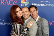 """Actress Debra Messing, co-creator/executive producer Max Mutchnick and actor Eric McCormack arrive at NBC's """"Will & Grace"""" FYC Event at the Harmony Gold Theatre on June 9, 2018 in Los Angeles, California."""