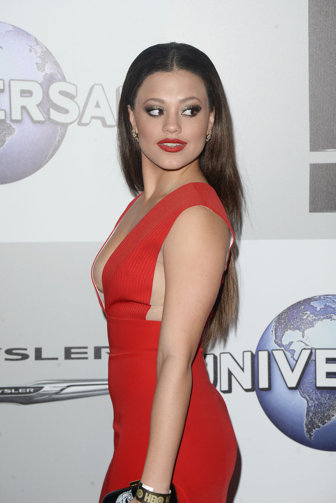 sarah jeffery in nbcuniversal s 73rd annual golden globes