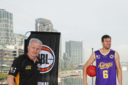 Andrew Gaze, coach of the Sydney Kings and Andrew Bogut of the Sydney Kings  look on during a NBL Media Opportunity on June 27, 2018 in Melbourne, Australia.  The National Basketball Association (NBA) and the National Basketball League (NBL) today announced that for the second consecutive year, NBL teams will travel to the U.S. to participate in the NBA preseason. Five NBL teams, including the Adelaide 36ers, Melbourne United, New Zealand Breakers, Perth Wildcats and Sydney Kings, will play a total of seven games against NBA teams in the 2018 NBA preseason, including the Denver Nuggets, LA Clippers, Philadelphia 76ers, Phoenix Suns, Toronto Raptors and Utah Jazz, from Sept. 28 Ð Oct. 5.