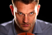 NBA player Cole Aldrich poses for a portrait at NBPA Headquarters on June 23, 2017 in New York City.