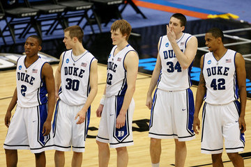 Jon Scheyer Lance Thomas NCAA Basketball Tournament - First Round - Jacksonville