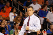 Head coach Billy Donovan of the Florida Gators looks on against the UC Santa Barbara Gauchos during the second round of the 2011 NCAA men's basketball tournament at St. Pete Times Forum on March 17, 2011 in Tampa, Florida. Florida won 79-51.