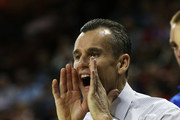 Head coach Billy Donovan of the Florida Gators reacts in the first half against the Minnesota Golden Gophers during the third round of the 2013 NCAA Men's Basketball Tournament at The Frank Erwin Center on March 24, 2013 in Austin, Texas.