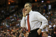 Head coach Billy Donovan of the Florida Gators yells to his team in the second half against the Minnesota Golden Gophers during the third round of the 2013 NCAA Men's Basketball Tournament at The Frank Erwin Center on March 24, 2013 in Austin, Texas.