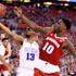 Matt Jones Nigel Hayes Photos - Matt Jones #13 of the Duke Blue Devils handles the ball against Nigel Hayes #10 of the Wisconsin Badgers in the first half during the NCAA Men's Final Four National Championship at Lucas Oil Stadium on April 6, 2015 in Indianapolis, Indiana. - NCAA Men's Final Four - Championship