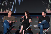 "Actors Jeff Pullman, Michelle Dockery and Creator/writer Scott Frank attend #NETFLIXFYSEE For Your Consideration Event For ""Godless"" at Netflix FYSEE At Raleigh Studios on June 9, 2018 in Los Angeles, California."
