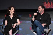 "Actress Michelle Dockery and Creator/writer Scott Frank attend #NETFLIXFYSEE For Your Consideration Event For ""Godless"" at Netflix FYSEE At Raleigh Studios on June 9, 2018 in Los Angeles, California."