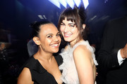Miranda Tapsell and Charlotte Best pose during the NGV Gala 2018 at National Gallery of Victoria on December 1, 2018 in Melbourne, Australia.