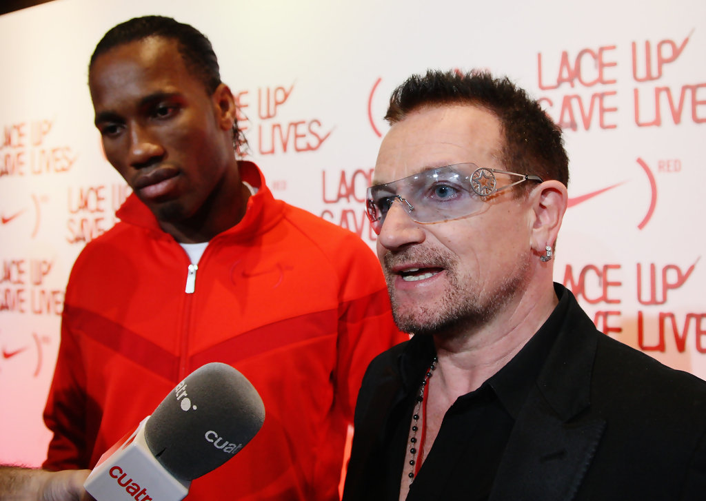 Bono Photos Photos - NIKE & (RED) Charity Announcement ...