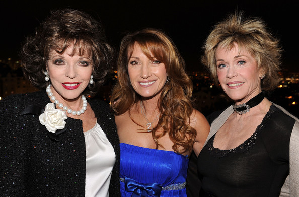 golden globes jane fonda. (L-R) Actresses Joan Collins, Jane Seymour and Jane Fonda attend the Golden