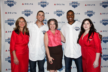 Gail Grimmet NY Met David Wright And NY Yankee Curtis Granderson Attend Delta Air Lines' Third Annual Delta Dugout at Grand Central Station In Celebration Of The Subway Series