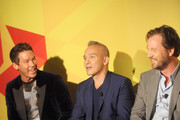 (L-R) David Bromstad, Cesar Galindo and Michael Kroll attend NYC Bing redesign panel featuring Jonathan Adler and David Bromstad on September 17, 2013 in New York City.