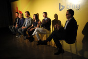(L-R) David Bromstad, Cesar Galindo, Michael Kroll, Ingrid Abramovitch, Jonathan Adler and Scott Erickson attend NYC Bing redesign panel featuring Jonathan Adler and David Bromstad on September 17, 2013 in New York City.