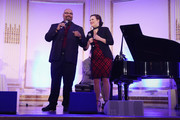 James Monroe Iglehart (L) and Ashley Brown perform onstage during the NYC & Company Foundation Visionaries & Voices Gala 2018 at The Plaza on November 28, 2018 in New York City.