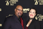 Actors James Monroe Iglehart (L) and Ashley Brown attend the NYC & Company Foundation Visionaries & Voices Gala 2018 at The Plaza on November 28, 2018 in New York City.
