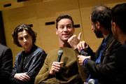 """Timothee Chalamet, Armie Hammer and Luca Guadagnino speak at the NYFF55 Live with FIJI Water featuring """"Call Me By Your Name"""" during the 55th New York Film Festival on October 4, 2017 in New York City."""