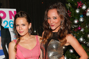 Actresses Bethany Joy Lenz (L) and Lauren Mayhew attend the Celebration of NYLON's December/January Cover Star Lucy Hale Presented by bebe at Andaz Hotel on December 7, 2012 in Los Angeles, California.