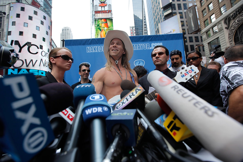 Naked Cowboy Launches His New York City Mayoral Campaign