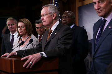 Nancy Pelosi Chris Van Hollen Congressional Democratic Leaders Hold Press Conference on Path to Budget Deal