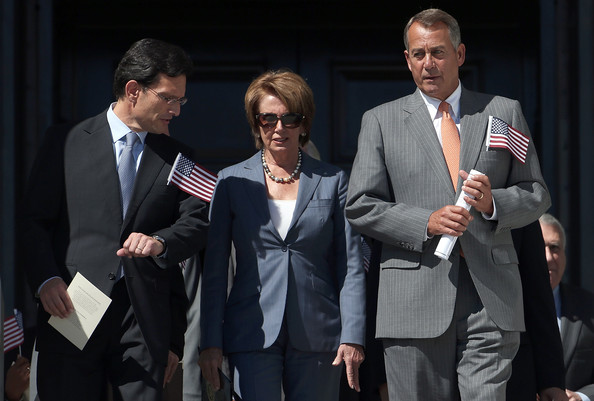 House And Senate Leaders Hold September 11th Remembrance Ceremony On Capitol Hill [event,white-collar worker,suit,businessperson,gesture,conversation,performance,formal wear,employment,leaders,eric cantor,nancy pelosi,r,l-r,capitol hill,house,senate,remembrance ceremony,attacks]