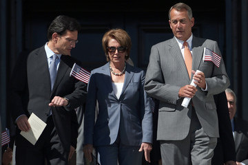 Nancy Pelosi Eric Cantor House And Senate Leaders Hold September 11th Remembrance Ceremony On Capitol Hill