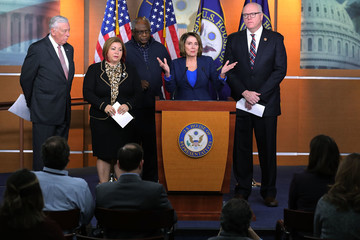 Nancy Pelosi Steny Hoyer House Democrats Address the Media After Weekly Caucus Meeting